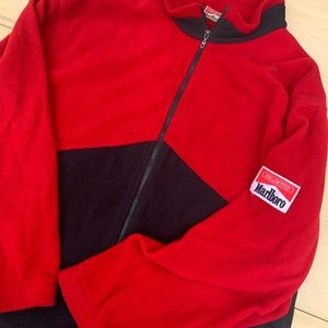 90s Marlboro Patch Fleece Sweater